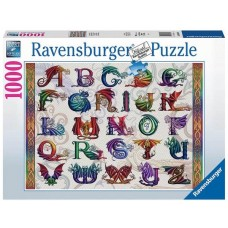 Ravensburger 1000 - Alphabet with dragons