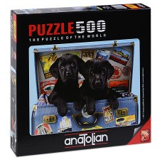 Puzzle Anatolian 500 - With puppies on the road, Greg Kudiford