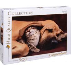 Clementoni 500 - Dog and Kitty