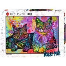 Heye 1000  - Two devoted cats, Dean Rousseau