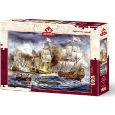 Art Puzzle 1500  - Ship War, Almar Zaadstra