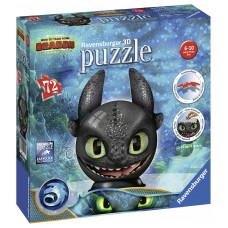 3D Ravensburger  72  - How To Train Your Dragon 3, Toothless