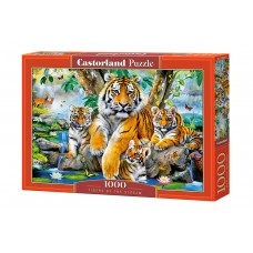 Castorland 1000 - Tigers to the waterfall