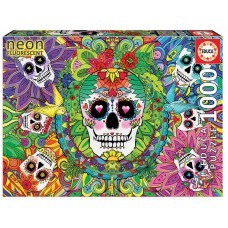 Educa 1000 - Colored skulls