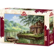 Art Puzzle 500 - Evening fishing