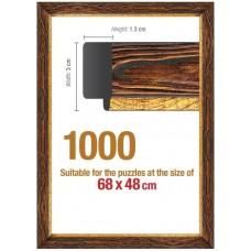 Рамка за Пъзел от 1000 части(68x48cm) - кафява
